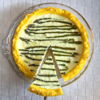 Polenta-Crusted Asparagus and Feta Quiche (Gluten-Free!)