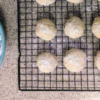 [Almond Pulp] Eggnog Wedding Cookies
