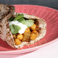 Curried Chickpea Wraps