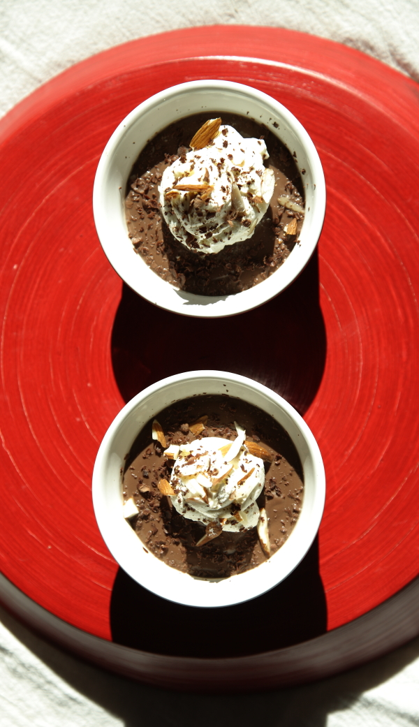 Bittersweet Chocolate Almond Pudding