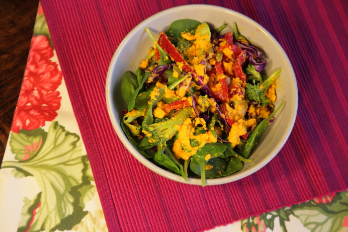 Superfood Salad with Carrot Ginger Dressing