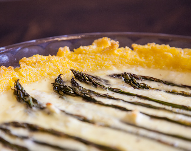 Polenta-Crusted Asparagus and Feta Quiche (Gluten-Free)