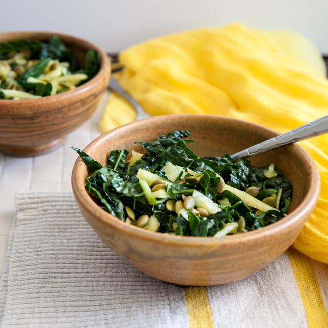Lemon Mint + Pineapple Kale Salad
