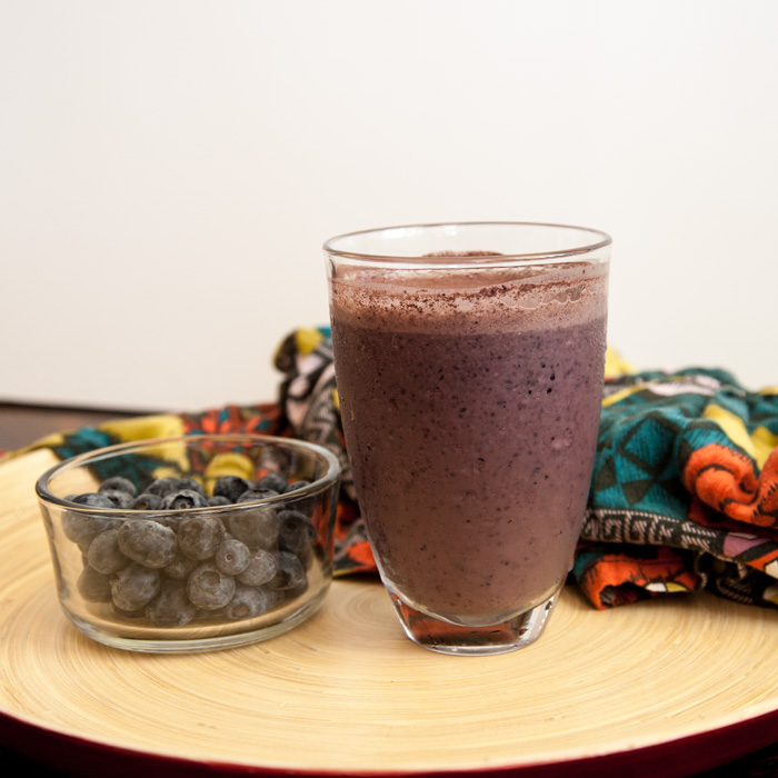 Blueberry Cocoa Hemp Smoothie