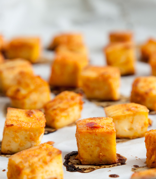Sweet Chili Baked Tofu