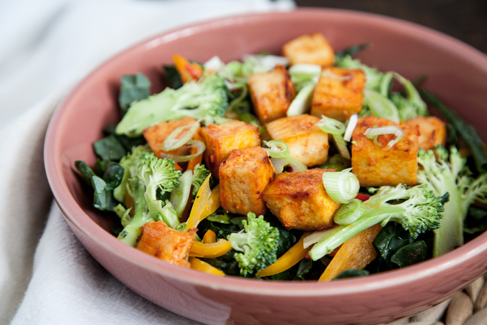 Sweet Chili Tofu Salad