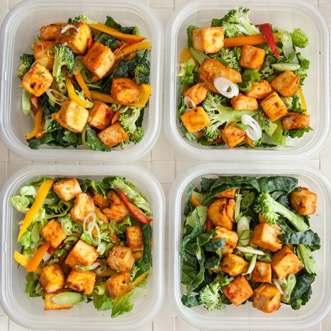 Sweet Chili Tofu Salad