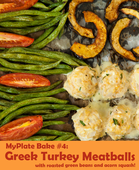 The MyPlate Bake: Greek Turkey Meatballs