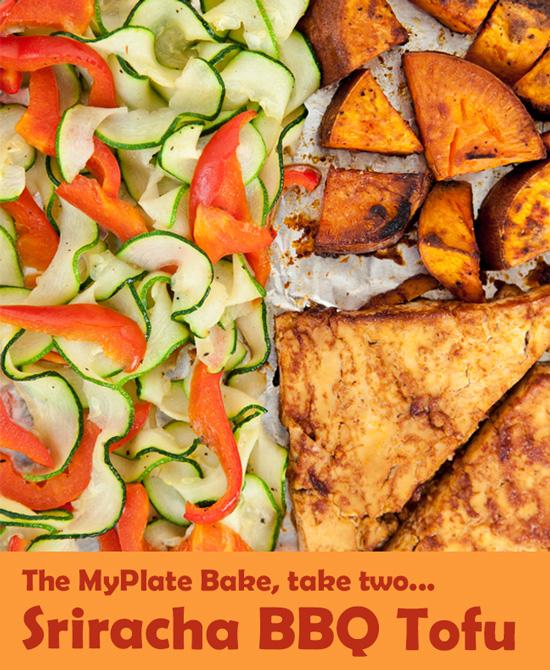 The MyPlate Bake: Sriracha BBQ Tofu