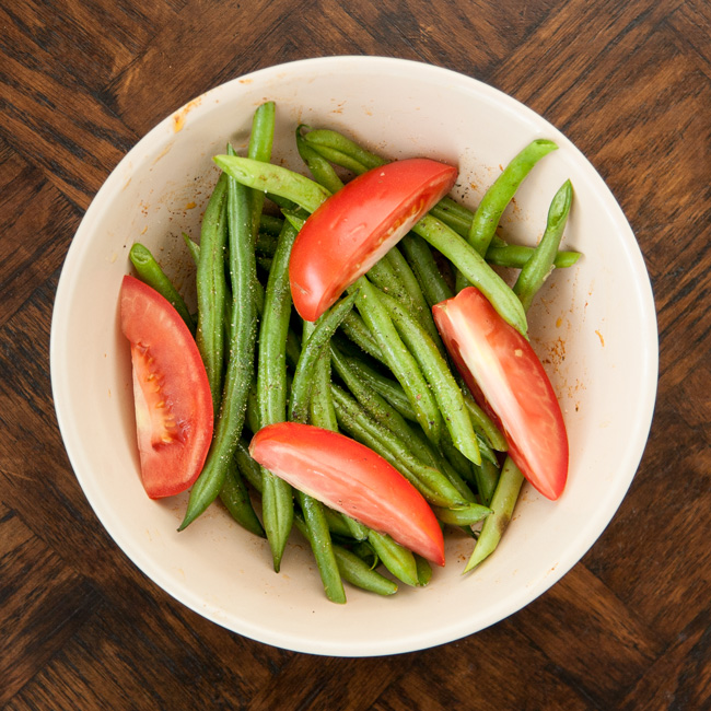 MyPlate Bake with Saucy Green Beans