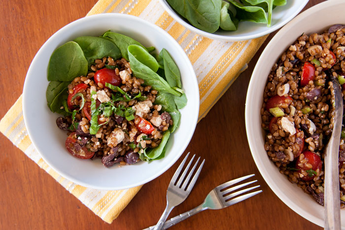 [Instant Pot] Balsamic Basil Wheatberry Salad