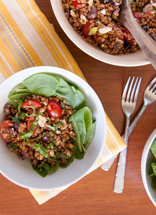 [Instant Pot] Balsamic Basil Wheatberry Salad