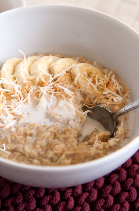 [Instant Pot] Creamy Coconut Steel Cut Oats