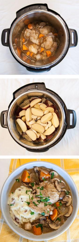 [Instant Pot] One-Pot Coq Au Vin + Garlic Mashed Potatoes