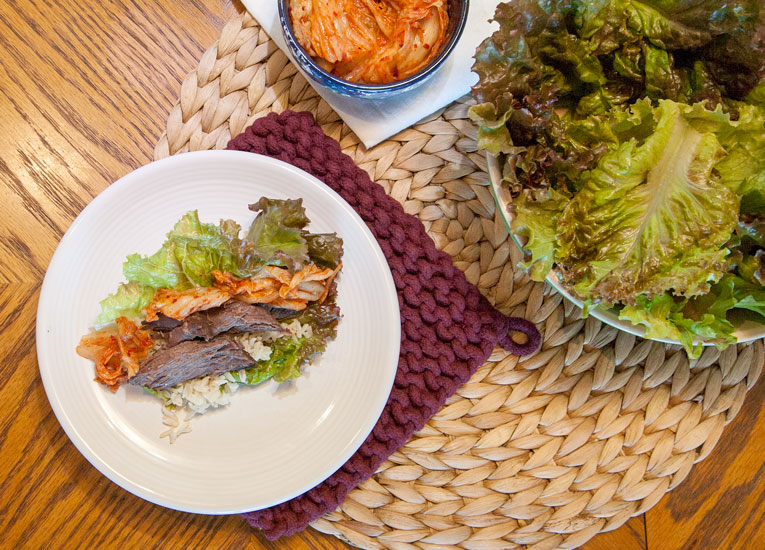[Instant Pot] Korean BBQ Beef Roast + Ssam
