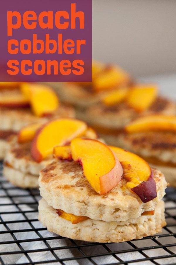Peach Cobbler Scones