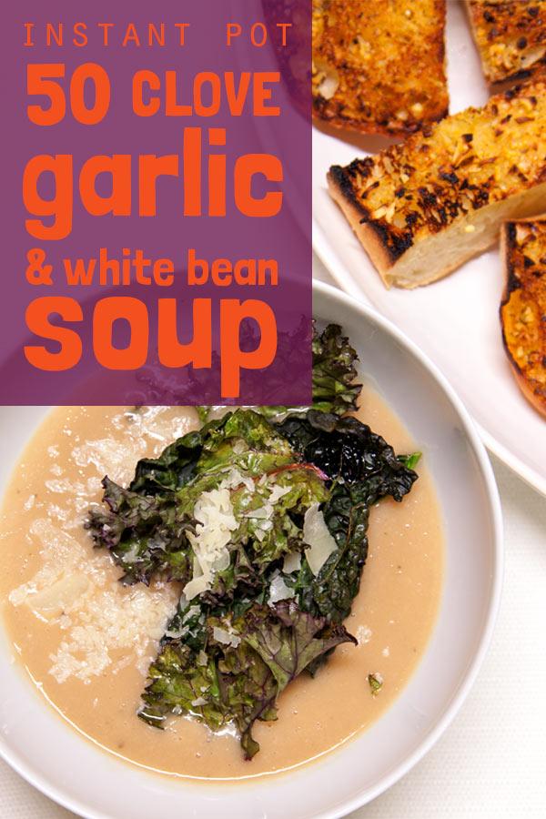 [Instant Pot] 50 Clove Garlic & White Bean Soup