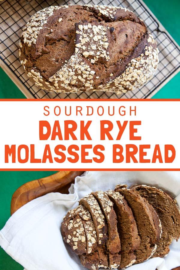 [Sourdough] Dark Rye Molasses Bread