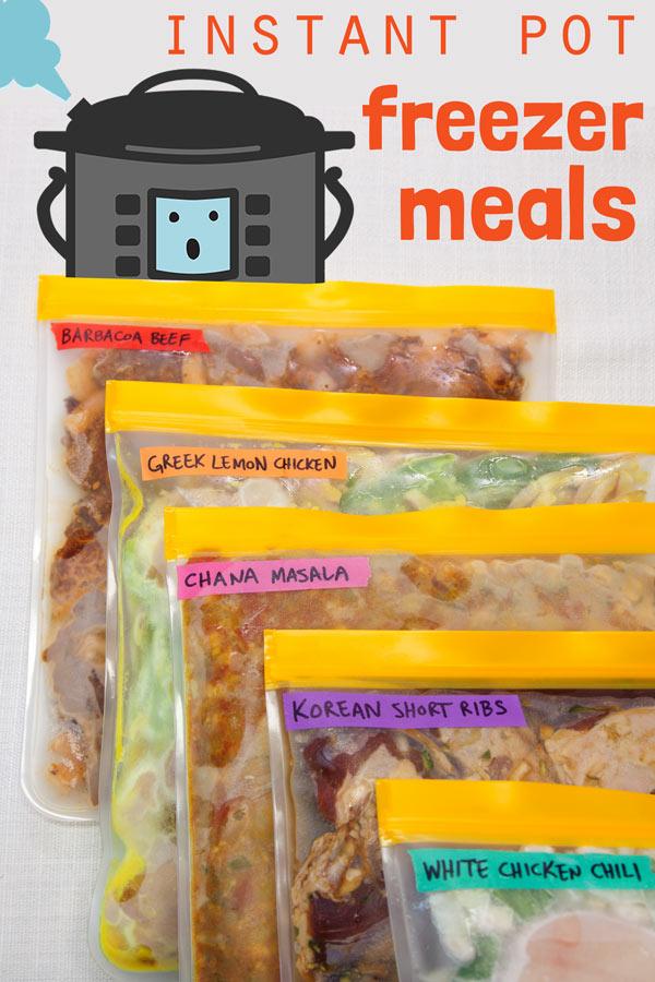 [Instant Pot] Freezer Meals: 5 Favorite Make-Ahead Healthy Dinner Recipes